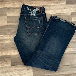 American Eagle distressed boot cut jeans size 36